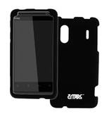 Empire Black Rubberized Hard Case Cover for Sprint HTC EVO Design 4G