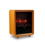 Crane Mini Fireplace Heater with Overheat Protection, Orange