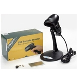 Esky USB Automatic Barcode Scanner Scanning Barcode Bar-code Reader with Hands Free Adjustable Stand - Black