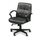ESTEEM MID 555 LEATHER EXECUTIVE CHAIR