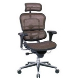 Eurotech Ergohuman Mesh Chair - 18.1A-22.9- Seat Height - High-Back Chair With Headrest - Copper