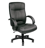 Eurotech Executive Leather Chair - 18-21-1/2- Seat Height - Black