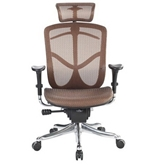 Eurotech Fuzion High Back Orange/Copper Mesh Chair w/ Aluminum Base