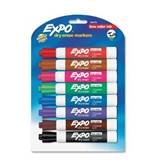 Expo Low Odor Chisel Tip Dry Erase Markers, 8 Colored Markers(80678)