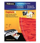 Fellowes Capture 5 Mil Letter Glossy Laminator Pouches, 100 Pack