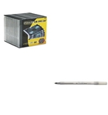 Fellowes Thin Jewel Case and BIC Round Stic Ballpoint Stick Pen - FEL98316