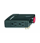 Fellowes 3-Outlet Wall Mount Travel Surge Protector (9904701)