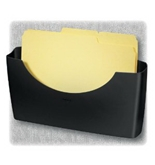 Fellowes 75275 - Plastic Partition Additions File Pocket, Legal/Letter, Dark Graphite-FEL75275