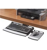 Fellowes 8031301 - Office Suites Adjustable Keyboard Manager, 21-1/4 x 10, Black/Silver-FEL8031301