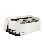 Fellowes 96503 Corrugated Cd/Disk Storage Plastic Platinum 4 Dividers With Self-Adhesive Labels