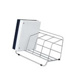 Fellowes Catalog Rack, 4 Compartment, Wire, Silver (10402)