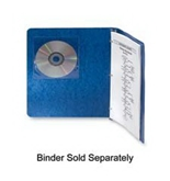 Fellowes Inc : Self-Adhesive CD Holders, 5-3/8-x1/32-x5-3/8-, 5/PK, Clear - Sold as 2 Packs