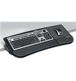 FELLOWES, INC. THE FELLOWES TILT N SLIDE KEYBOARD MANAGER ATTACHES TO YOUR DE...