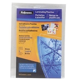 Fellowes Self-Adhesive Pouches, Business Card Size, 5 mil, 5 Pack (5220101)