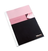 Fellowes Thermal Binding System Cover, PVC, Holds 43 Sheets, 9.75 x 11.125 Inches, Clear, 10 Each (52220)