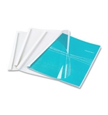 Fellowes Thermal Presentation Covers, Clear/White, 10 per Pack (52560)