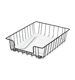 Fellowes 40912 Chrome plated Steel Wire Mail Cart