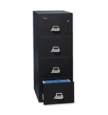 FireKing 41831CBL - 4-Drawer Vertical File, 17-3/4w x 31-9/16d, UL 350 for Fire, Letter, Black