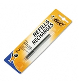 Refills for Bic Velocity WideBody Ballpoint Pens, Fine, Blue Ink, 2/Pack - BICFRC21BE