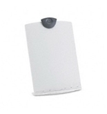 Freestanding Desktop Copy Stand/Clipboard Plastic 75 Sheet Capacity Platinum
