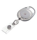 GBC BadgeMates Translucent Carabiner Badge Reels, Clear, 2 Reels per Pack - 3747483