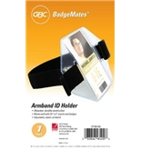 GBC Armband ID Holder, For 2.25 x 4-Inch Inserts, Elastic Armband, Black (3748100)