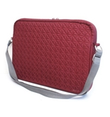 Genuine Belkin Garnet Red F8N093-083 15.4--Inch Quilted Nylon Laptop Notebook Shoulder Bag Tote Carrying Case, With Plush Inner Lining To Protect Your Laptop Notebook From Scratches, Exterior Dimensions: 11-1/2- x 16- x 1-1/2-