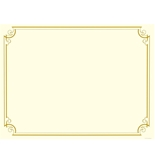 Great Papers Golden Scroll Gold Foil Certificate, 8.5  x 11 , 12 Count - 2011859
