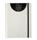 Grandluxe Muse A6 Note Book White, 120 Sheets, 5.8 x 4.1-Inches (334086)