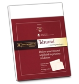 Southworth Resume Envelopes (9x12 Inches) and labels, 25% Cotton, 24 , White, 25 Count Envelopes and 25 Count Labels