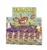 Hanukkah Dreidels for Children's. Multi Colored jumping Classic Dreidels. 24 Piece in eeach Designed Box