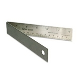 Helix Folding Ruler, 12 Inch, Stainless Steel (13013)