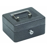 Hercules CB0604 Key Locking Cash Box, 6- x 4.62- x 3-, Recycled Steel, Silver Vein