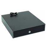 "Hercules CD1314 Cash Drawer with Key Lock, 13"" x 14.5"" x 3"", Steel, Silver Vein"