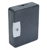 Hercules KK0902-52 Key Locking Key Cabinet, Holds 52 Keys, 9- x 3- x 11.87-, Steel, Silver Vein