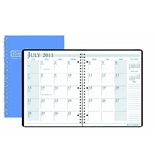House of Doolittle 14 Month Academic Planner July 2012 to August 2013, 8 1/2 x 11 Inches Bright Blue Cover with 3 Hole Punched Recycled (HOD26308)