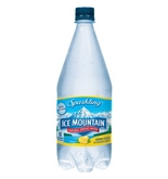 Ice Mountain Water, Natural Spring, Sparkling Lemon Essence, 1 lt (Pack of 12)