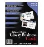 "Printer Essentials for Impresso Paper Photo Glossy Business Cards 8.5"" x 11"" - 01P4886"