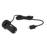 Kensington PowerBolt 1-Amp Car Charger for iPhone 6/6 Plus/5/5c/5s - Black - K39762AM