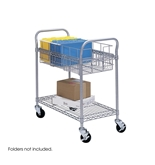 Part No. 5235GR Safco Wire Mail Cart, 26.75 Inches Width x 38.5 Inches Height