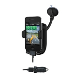 Kensington SoundWave Sound Amplifying Car Mount with Power for iPhone 4-Black