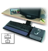 Kensington Underdesk Adjustable Keyboard Platform with Wrist Rest (K60067)