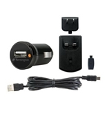 Kensington USB Car and Wall Charger for Smartphone - Black