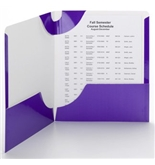 Smead Campus Org Lockit Two Pocket Folder Purple