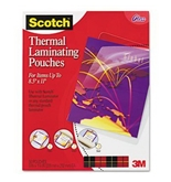 Letter size thermal laminating pouches 3 mil 11 1/2 x 9 50/pack