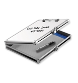 "Locking Coaches Storage Clipboard With White Board, 8 1/2"" x 11"" - Whiteboard - Vaultz - VZ00717"