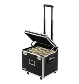 Locking Mobile File Chest, Letter, Black - Black - Vaultz - VZ00348