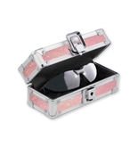 Locking Sport Sunglass Case - Pink Bling - Vaultz - VZ00720