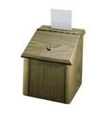 Lorell : Suggestion Box, With Lock,7-3/4-x7-1/4-x9-3/4-, Medium Oak -:- Sold as 2 Packs of - 1 - / - Total of 2 Each