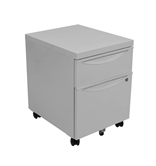 Luxor Mobile Pedestal File Cabinet w/ Locking Drawer Model Number- KDPEDESTAL-GY